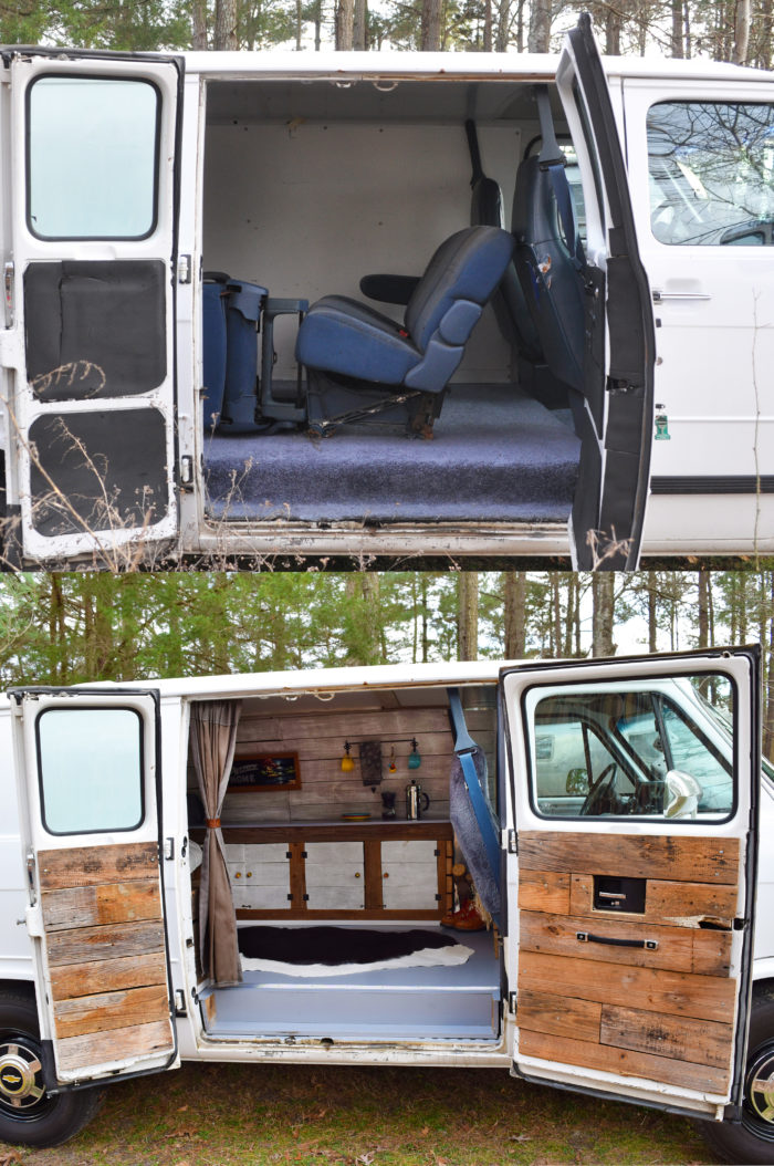 Camper Van Before And After Remodel A Small Life
